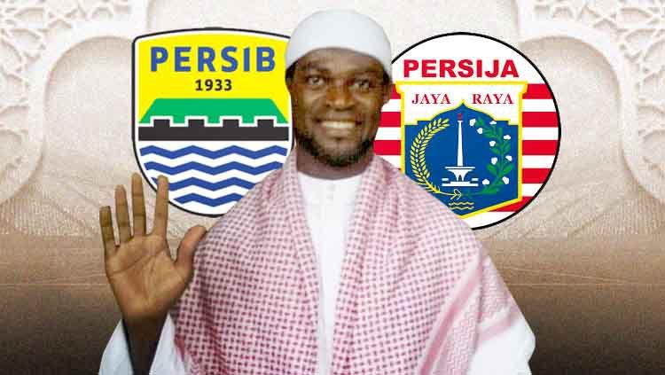 Abanda Herman, pesepak bola mualaf mantan Persib dan Persija. Copyright: © persibdanbandung.blogspot.com/Eli Suhaeli/INDOSPORT