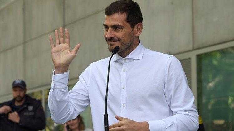 Iker Casillas merupakan sosok kiper legendaris eks Real Madrid yang sangat dihormati di Spanyol. Copyright: © Miguel Riopa