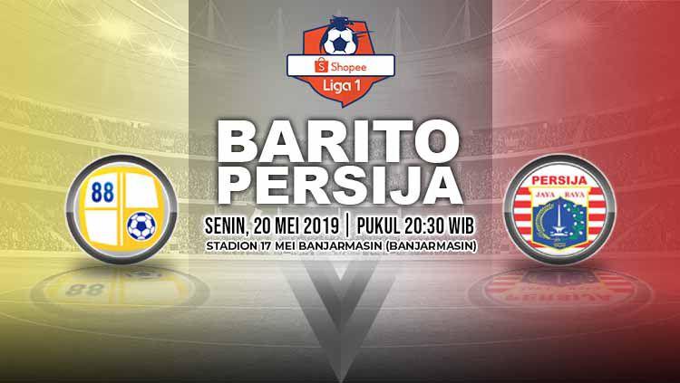 Pertandingan Barito Putera vs Persija Jakarta. Grafis: Yanto/Indosport.com Copyright: © Grafis: Yanto/Indosport.com