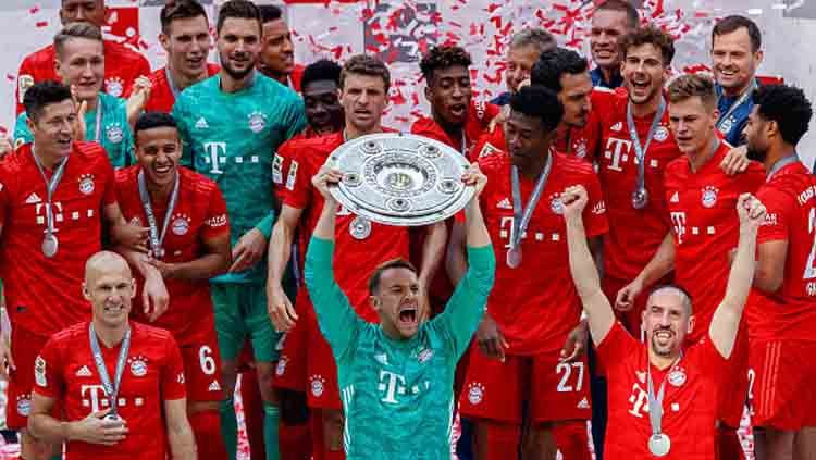 Bayern Munchen juara Bundesliga 2018-19. Copyright: © TF-Images/GettyImages