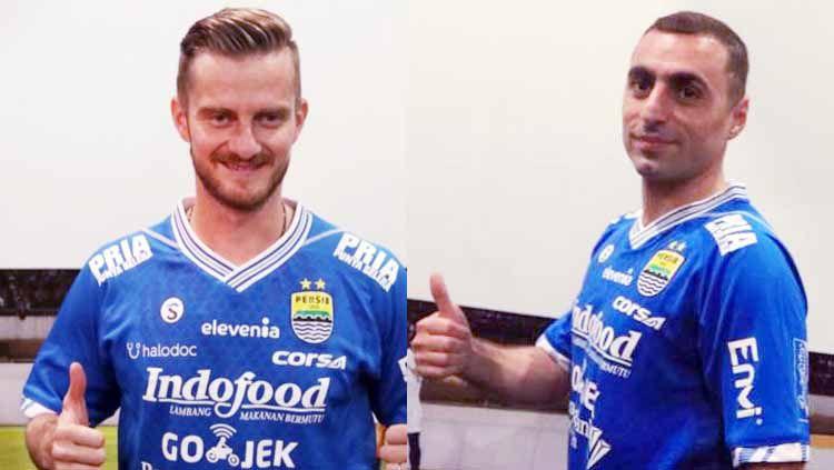 Pemain Persib, Rene Mihelic dan Artur Gevorkyan jadi double pivot yang memegang peranan penting kemenangan Persib Bandung atas Persipura Jayapura. Foto: thebombsnews/goal Copyright: © thebombsnews/goal