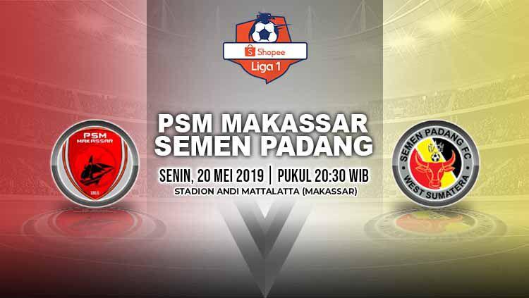 Pertandingan PSM Makassar vs Semen Padang. Grafis: Yanto/Indosport.com Copyright: © Grafis: Yanto/Indosport.com