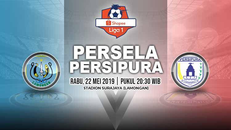 Pertandingan Persela Lamongan vs Persipura Jayapura. Grafis: Yanto/Indosport.com Copyright: © Grafis: Yanto/Indosport.com