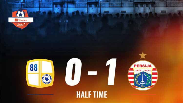 Pertandingan Barito Putera vs Persija Jakarta. Foto: Twitter@Liga1Match Copyright: © Twitter@Liga1Match
