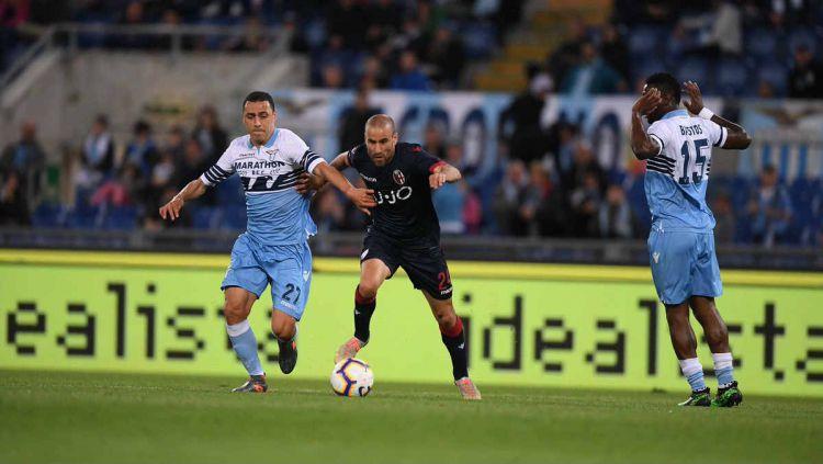 Pertandingan Lazio vs Bologna di pekan ke-37 Liga Italia, Selasa (21/05/19). Copyright: © twitter.com/BfcOfficialPage