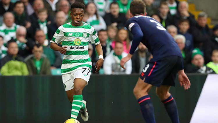 Karamoko Dembele menjadi aset berharga bagi tim sepak bola Glasgow Celtic berkat talenta bermainnya yang luar biasa. Ian MacNicol/Getty Images. Copyright: © Ian MacNicol/Getty Images