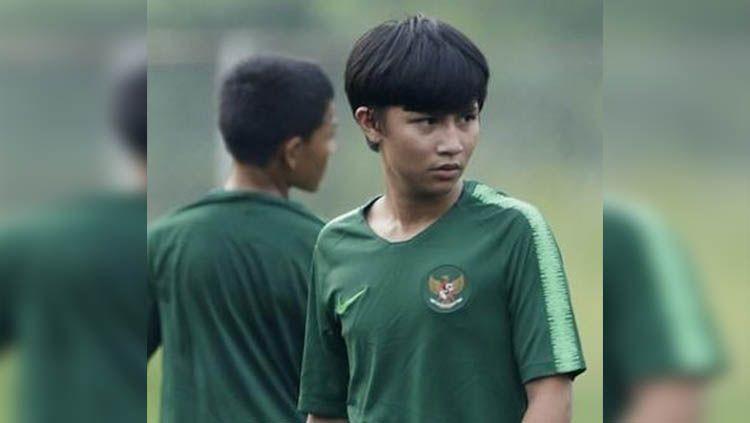 Tristan Alif Naufal saat mengikuti seleksi Timnas Indonesia U-16. Copyright: © tristan_alif28.id