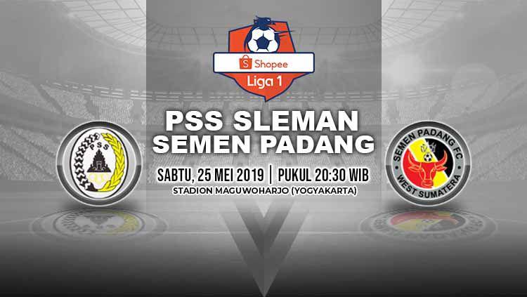 Pertandingan PSS Sleman vs Semen Padang. Grafis: Yanto/Indosport.com Copyright: © Grafis: Yanto/Indosport.com