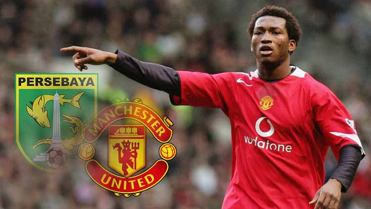 Eric Djemba-Djemba, mantan pemain Manchester United yang dipecat Persebaya Surabaya. Foto: John Peters/Manchester United via Getty Images Copyright: © John Peters/Manchester United via Getty Images