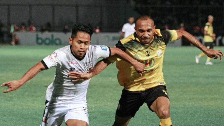 Aksi Andik Vermansyah di laga Barito Putera vs Madura United, Jumat (24/05/19). Copyright: © twitter.com/MaduraUnitedFC