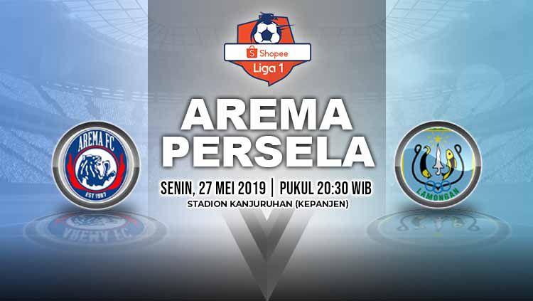 Pertandingan Arema FC vs Persela Lamongan. Grafis: Yanto/Indosport.com Copyright: © Grafis: Yanto/Indosport.com