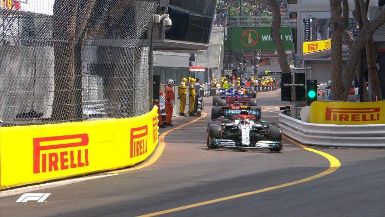 Berdasarkan catatan, F1 GP Monaco 2019 membawa keberuntungan baik bagi pembalap yang start di posisi tiga besar. Copyright: © Twitter.com/@F1