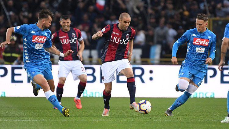 Pertandingan antara Bologna vs Napoli di pekan ke-28 Serie A Italia, Minggu (26/05/19) dini hari WIB. Copyright: © Twitter @BfcOfficialPage