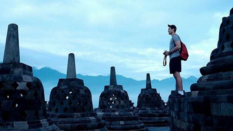 Isi Waktu Liburan Ronaldo Pilih Ke Candi Borobudur Indosport