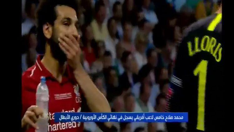 Mohamed Salah buka puasa di final Liga Champions 2018/19 Liverpool vs Tottenham Copyright: © Twitter/@mohamedelgazar4