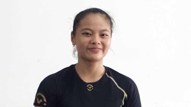 Lifter Windy Cantika Aisah membawa pulang medali emas cabang olahraga angkat besi SEA Games 2019. Foto: Mercy Raya/detikSport Copyright: © Mercy Raya/detikSport