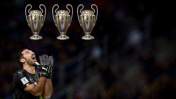 Gianluigi Buffon pernah tiga kali gagal menjadi juara Liga Champions. Copyright: © Nicolò Campo/LightRocket via Getty Images
