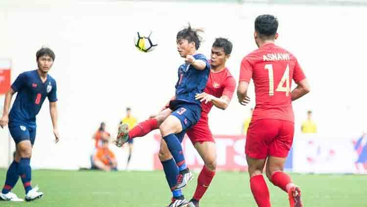 Jalannya pertandingan antara Timnas Indonesia U-23 vs Thailand di Merlion Cup 2019. Copyright: © Flona Hakim/PSSI