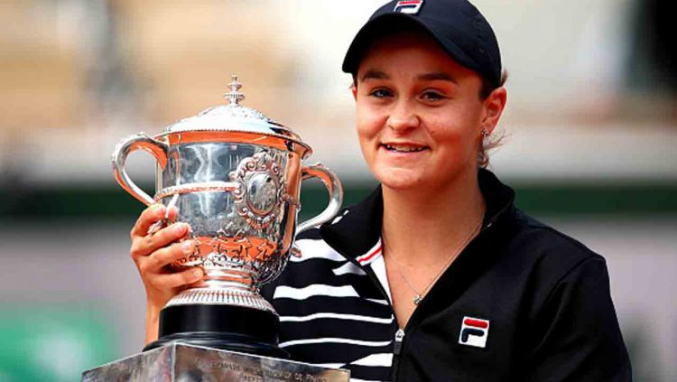 Ash Barty, juara Prancis Terbuka 2019. Copyright: © Clive Brunskill/Getty Images