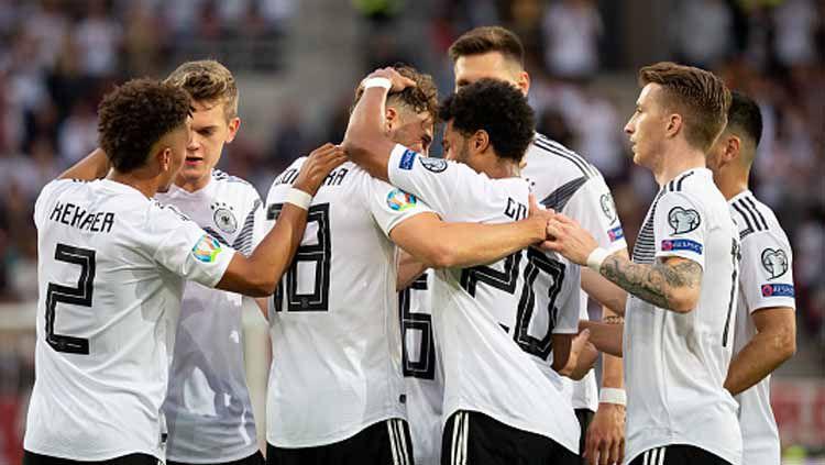 Selebrasi para pemain Jerman. Copyright: © TF-Images/GettyImages