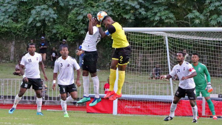 PErtandingan uji coba FIFA antara Fiji vs Vanuatu, Senin (10/06/19). Copyright: © oceaniafootball.com