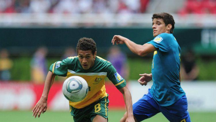 Mitch Cooper saat memperkuat Australia melawan Brasil di Piala Dunia U-17 2011. Copyright: © Getty Images/Shaun Botterill - FIFA