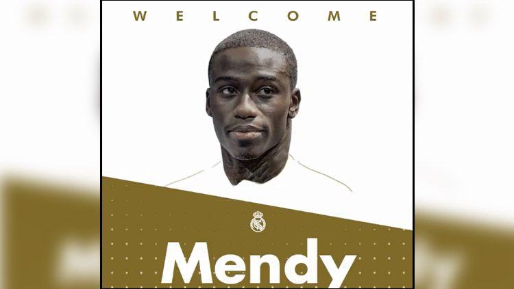 Ferland Mendy resmi direkrut Real Madrid. Copyright: © Twitter Real Madrid
