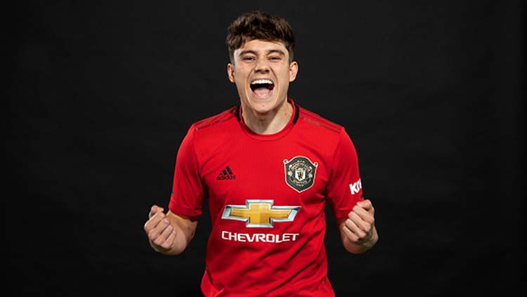 Daniel James rekrutan anyar Man United. Copyright: © Manchester United/Man Utd via Getty Images