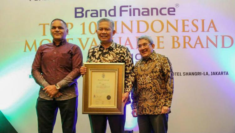 Bank bjb sukses masuk 100 brand paling bernilai 2019. Copyright: © Corporate Secretary Bank bjb