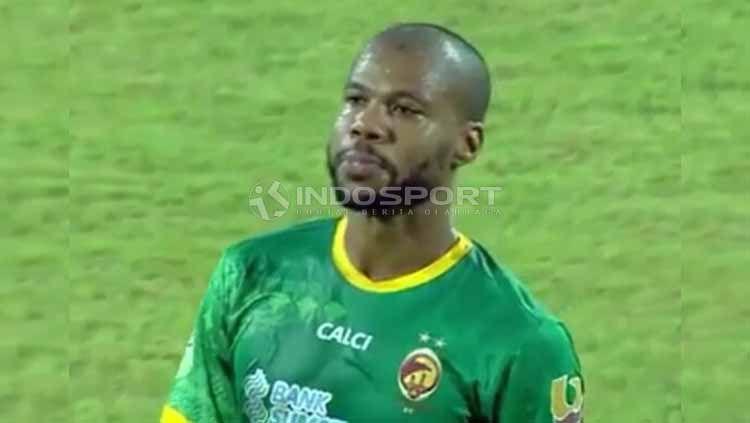 Pemain asal Brasil, Hilton Moreira perkuat Sriwijaya FC pada putaran kedua pemain Liga 2. Foto: Muhammad Effendi/INDOSPORT Copyright: © Muhammad Effendi/INDOSPORT