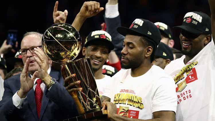 Nama Kawhi Leonard dikaitkan dengan kepindahan ke LA Clippers. License Agreement. (Photo by Ezra Shaw/Getty Images). Copyright: © License Agreement. (Photo by Ezra Shaw/Getty Images
