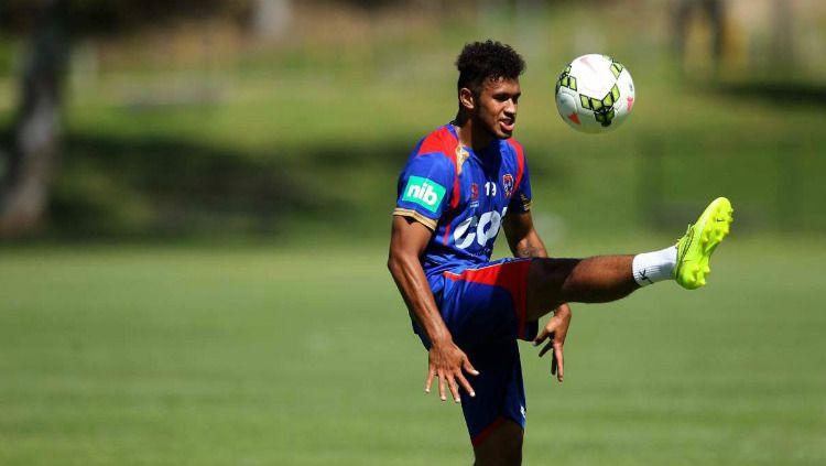 Pemain Timnas Vanuatu, Mitch Cooper memiliki harga jual yang melampaui pemain Timnas Indonesia. Copyright: © Game Time/theherald.com.au