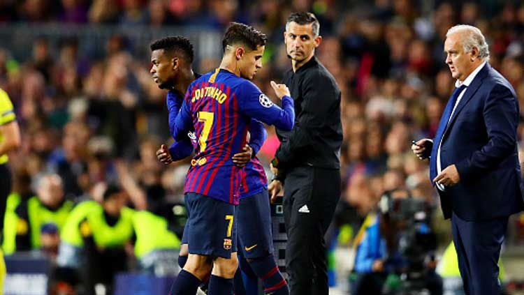 Nelson Semedo saat menggantikan Philippe Coutinho dalam pertandingan Barcelona Copyright: © Chris Brunskill/INDOSPORT