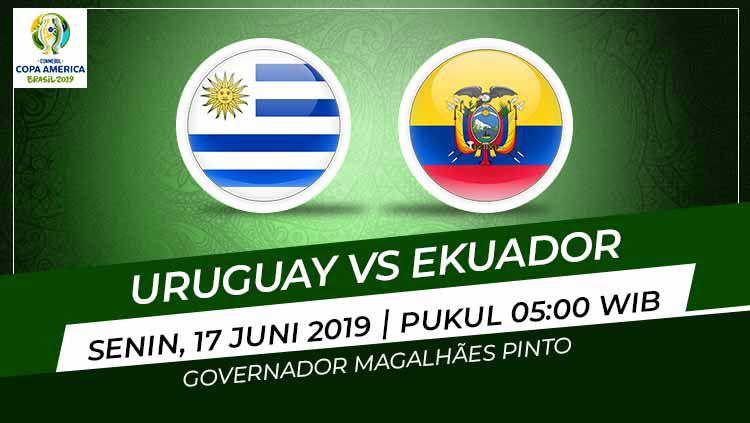 Pertandingan Uruguay vs Ekuador. Copyright: © Grafis: Eli/Indosport.com