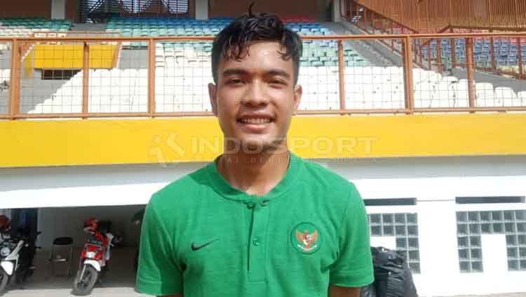 Brylian Negietha Dwiki Aldama, alumni Garuda Select yang dipanggil ke Timnas Indonesia U-19. Copyright: © Shintya Anya Maharani/INDOSPORT