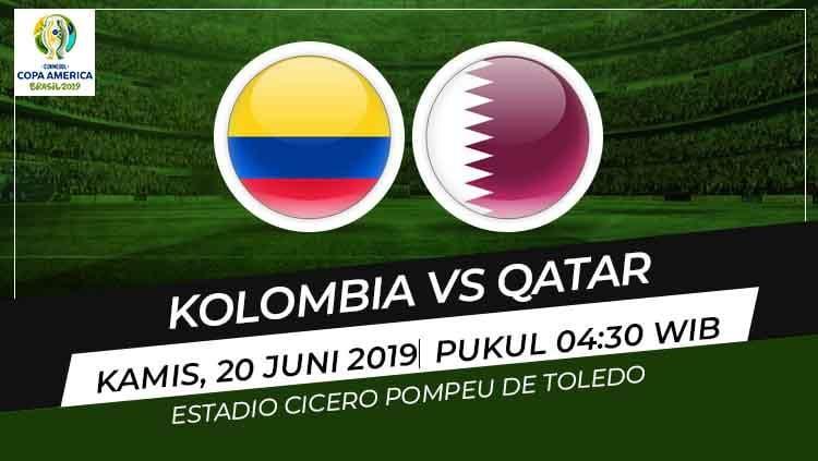 Setelah mengalahkan Argentina di laga pertama, Kolombia akan berhadapan dengan tim kuda hitam Qatar di Copa America 2019, Kamis (20/06/19). Copyright: © Wikipedia/Eli Suhaeli