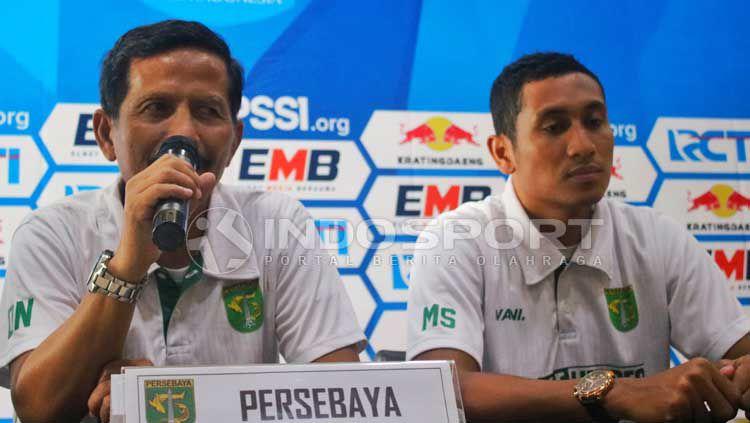 Djadjang Nurdjaman dan M Syaifuddin saat konfrensi pers. Copyright: © Fitra Herdian/INDOSPORT