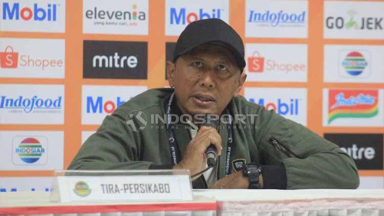 Pelatih PS Tira Persikabo, Rahmad Darmawan seusai pertandingan menghadapi Persib Bandung. Foto: Arif Rahman/INDOSPORT Copyright: © Arif Rahman/INDOSPORT