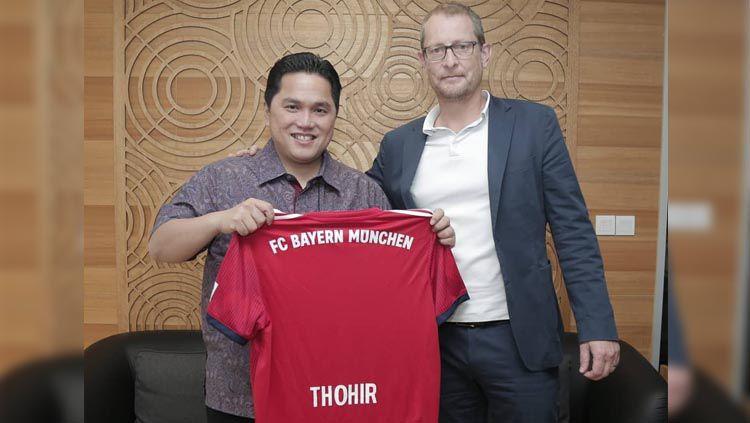Wakil Komisaris Persib Bandung Erick Thohir bertemu perwakilan Bundesliga Jerman. Copyright: © Twitter/@erickthohir