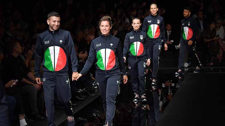 Armani Meluncurkan Seragam Olimpiade Musim Panas Tokyo 2020 di Milan Fashion Show Copyright: © Jacopo Raule/Getty Images