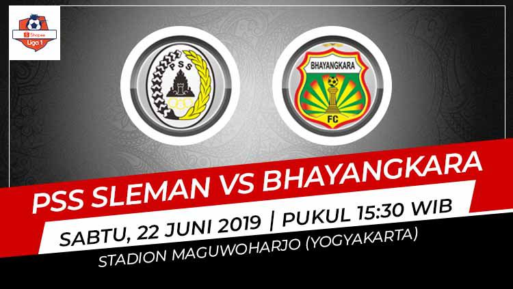 Pertandingan PSS Sleman vs Bhayangkara FC. Foto: Grafis: Indosport.com Copyright: © Grafis: Indosport.com