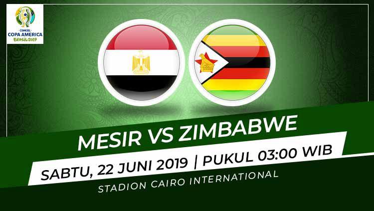 Pertandingan Mesir vs Zimbabwe. Foto: Grafis: Indosport.com Copyright: © Grafis: Indosport.com