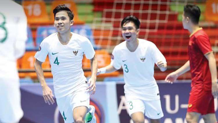Timnas Indonesia tersingkir atau gagal ke final setelah kalah 3-4 dari Afghanistan pada pertandingan semifinal Piala AFC U-20 Futsal 2019, Kamis (20/06/19), di Tabriz, Iran. Copyright: © AFC