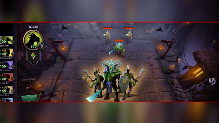 Tampilan gameplay dari game eSports di Dota Underlords. Copyright: © OffGamers