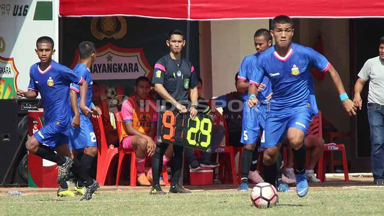 Semifinal Elite Pro Academy Liga 1 U-18 2019 diwarnai drama adu penalti di Stadion Sultan Agung Bantul, Sabtu (23/11/19). Copyright: © Fitra Herdian/INDOSPORT