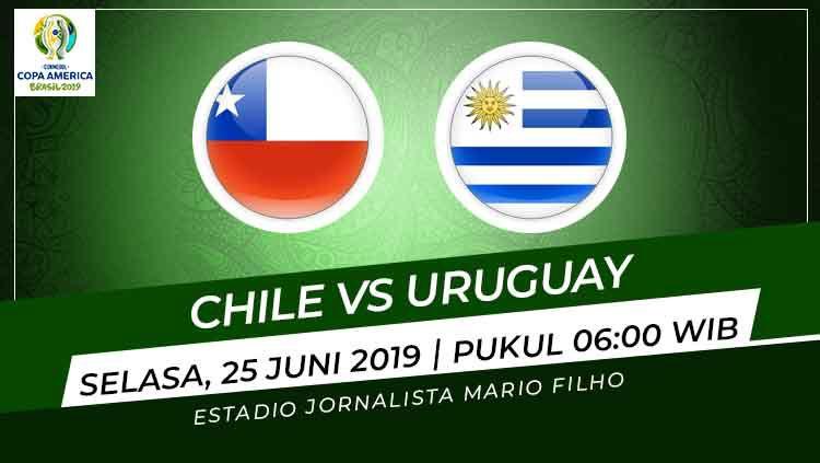 Prediksi Chile vs Uruguay Copyright: © INDOSPORT