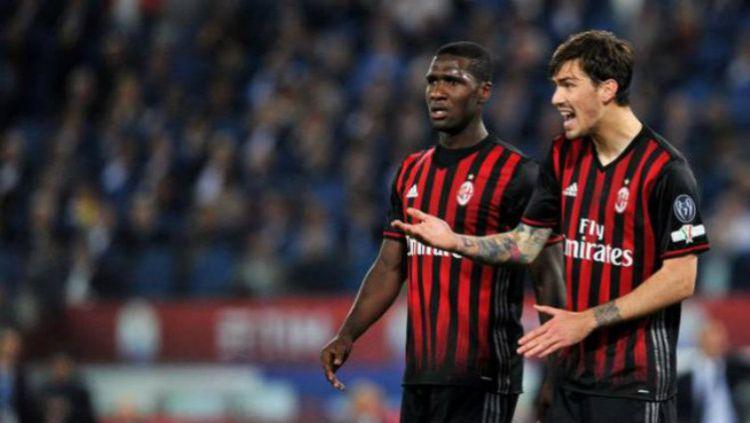 Alessio Romagnoli (kanan) menjadi bagian dari 'The Young Guns' di lini pertahanan AC Milan 2019/20. Copyright: © Quotidiano.net
