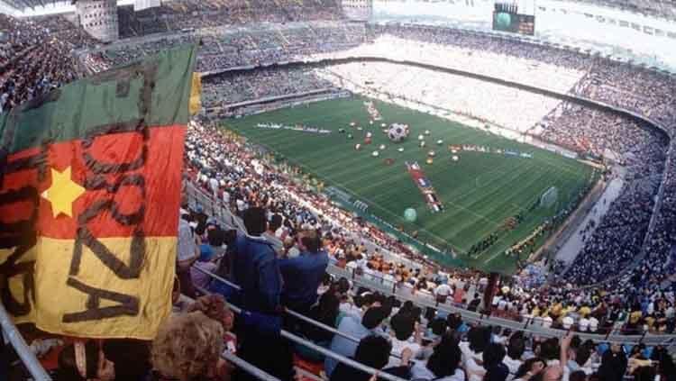 Kapasitas Stadion legendaris San Siro berkurang dikarenakan penggunaan oleh Atalanta sabagai kandang di Liga Champions 2019/20 mendatang. Copyright: © Popper Foto