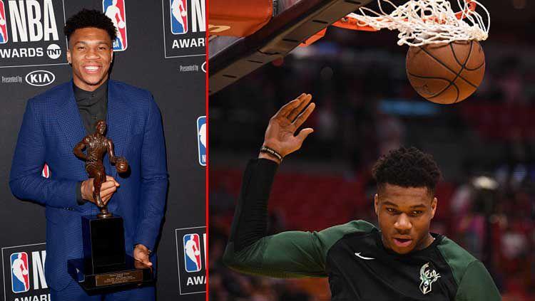 Giannis Antetokounmpo bintang basket, Milwaukee Bucks meraih MVP 2019. Copyright: © Joe Scarnici/Mark Brown/Getty Images