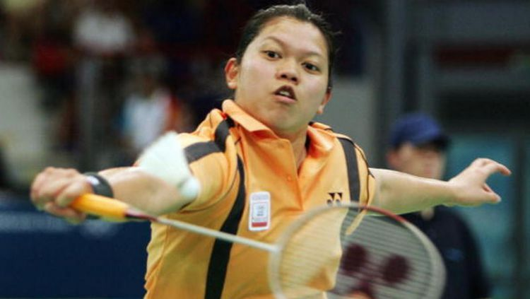 Mia Audina, pebulutangkis Indonesia yang sukses menjuarai Japan Open dengan dua kewarganegaraan, Indonesia dan Belanda. Copyright: © Andreas Rentz/Bongarts/Getty Images